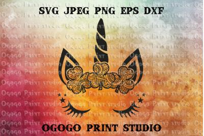 Shamrock SVG, Unicorn svg, Zentangle SVG, St Patrick's Day