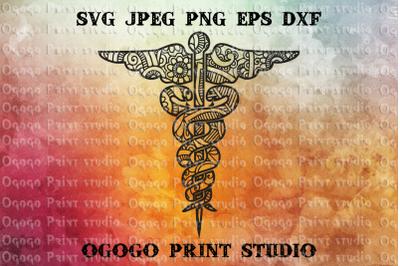 Nursing svg, Snake svg, Mandala Svg, Zentangle SVG, Cricut