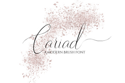 Cariad - A brush font