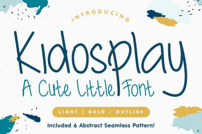 Kidosplay Family Font With Bonus