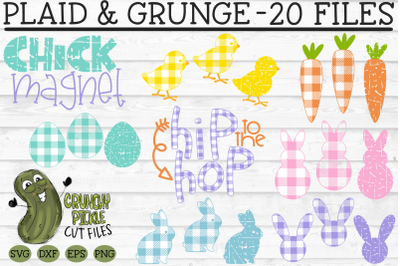 Plaid & Grunge Easter SVG Bundle