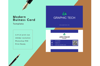 Clean and Modern Business Card Template