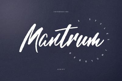 Mantrum - Urban script | 3 styles