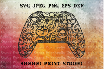 XBOX Controller SVG, Zentangle Svg, Gamer svg, Mandala svg