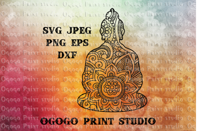 Buddha SVG, Zentangle SVG, Yoga svg, Mandala svg,Cricut file