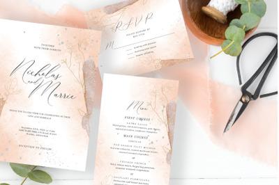Blush Foliage Wedding Suite