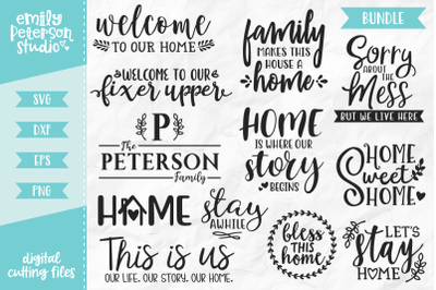 Home Bundle SVG DXF - 12 Designs