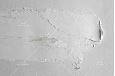 grey brush stroke on gray empty wall