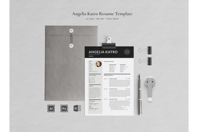 Angelia Resume Template