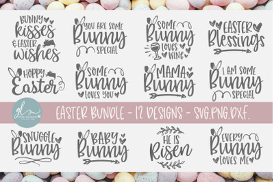 Easter SVG Bundle Vol. 1 - 12 Easter Designs