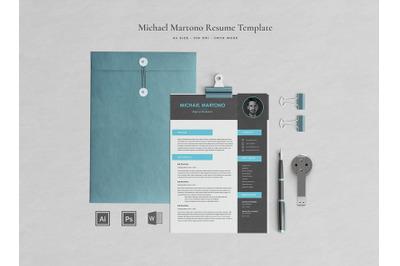 Michael Resume Template / CV Template / Professional Resume