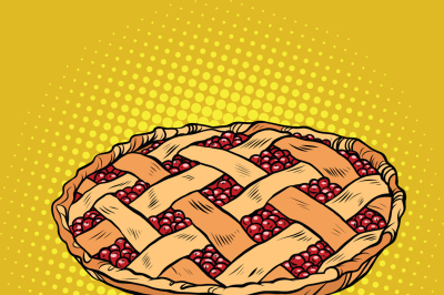 Berry pie, thanksgiving and family celebration