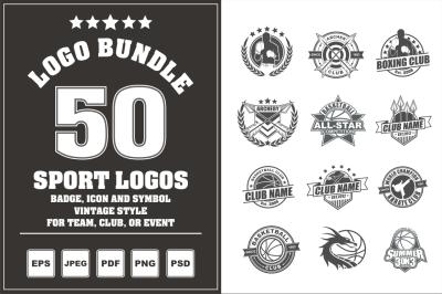 50 Sport Logos - Logo Bundle
