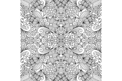 Seamless background textile with floral shapes