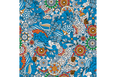 Full frame background made from floral designs