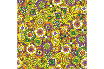 Floral background colored yellow and purple