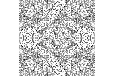 Seamless textile pattern with decorative shapes