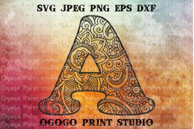 Alphabet svg, Letter SVG, Initial svg, monogram svg, Alphabe