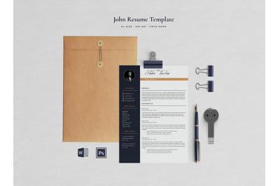 John Resume Template