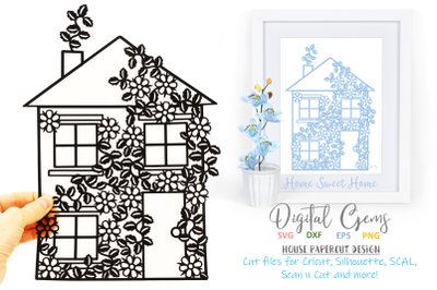 House, Home papercut design