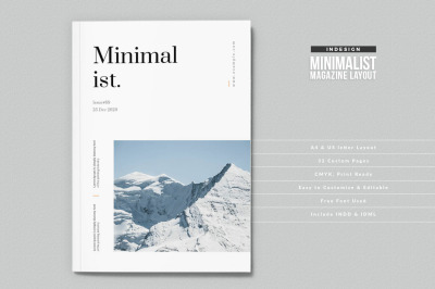 Minimalist InDesign Magazine Template
