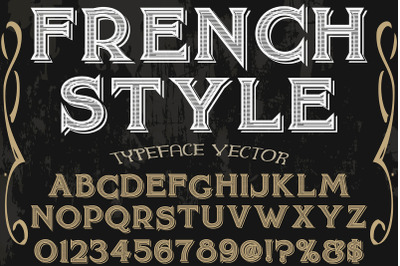 vintage handcrafted vector label design typeface french style
