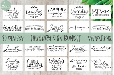 Laundry Bundle - 20 Laundry Designs - SVG Cut Files