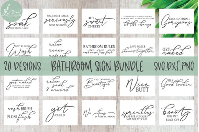 Bathroom Sign Bundle - 20 Designs - SVG Cut Files