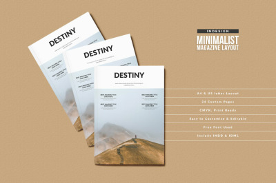 InDesign Destiny Magazine Template
