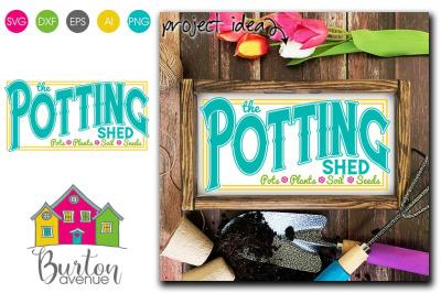 The Potting Shed - SVG file for Spring