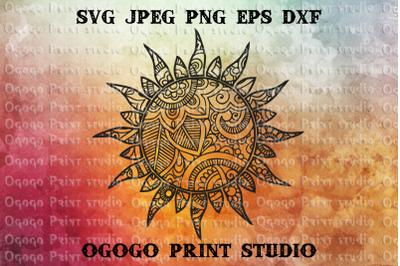 Sun SVG, Zentangle Svg, Summer svg, Mandala svg, Cricut file