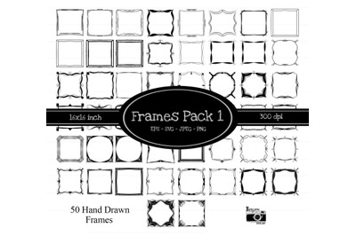 50 Hand Drawn Frames Pack 1