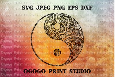 Yin-Yang SVG, Zentangle SVG, Peace svg, Mandala svg, Cricut