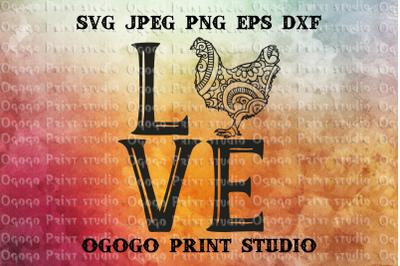 Chicken SVG, Zentangle Svg, Easter SVG, Mandala svg, Cricut