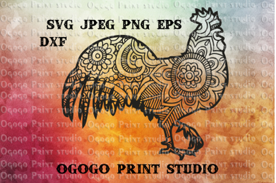 Easter SVG, Rooster SVG, Zentangle SVG, Mandala svg, Cricut