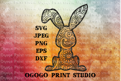 Bunny svg, Easter svg, Rabbit svg, Mandala svg,Zentangle svg
