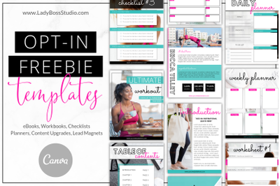 Canva Bold Opt-in Freebie Templates