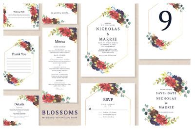Blossom - Wedding Invitation Suite