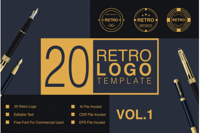 Retro Logo Template VOL.01