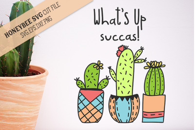 What's Up Succas SVG Cut File