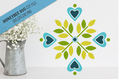 Blue Blossom Barn quilt SVG Cut File