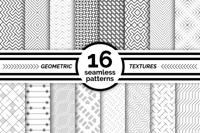 Geometric seamless patterns. Big set