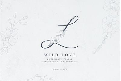 Floral Monograms & Illustrations