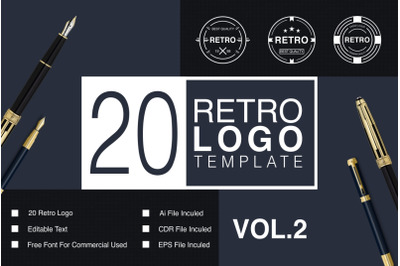 Retro Logo Template VOL.02