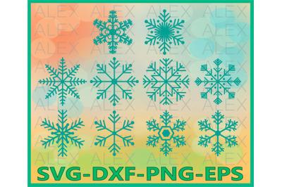 Snowflakes Clip Art, Frozen Vinyl Decal