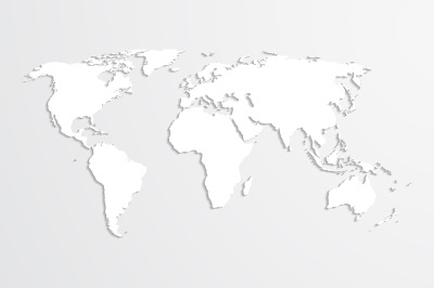 World map, vector.