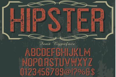 alphabet Script Typeface handcrafted handwritten vector label hipster