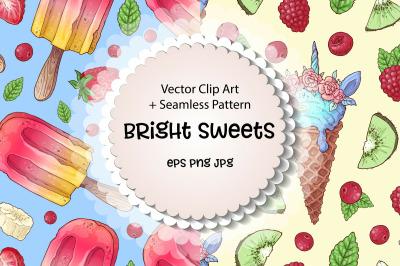 Bright sweets  vector clip art