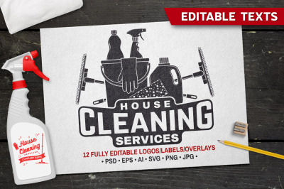 Cleaning Company Badges