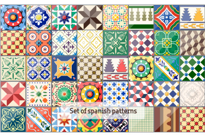 Set of spanish ceramics patterns